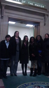 Members of the Coalition at the Office of the Mayor (1/14/13)